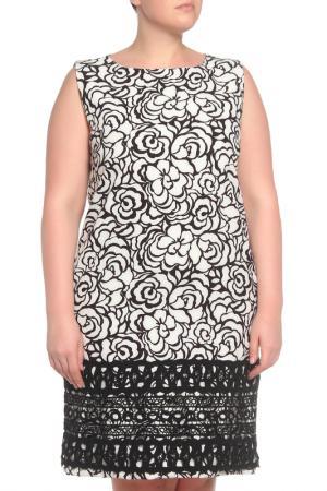 Платье Anna Rachele. Цвет: черный,белый