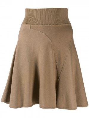 Короткая юбка годе Alaïa Pre-Owned. Цвет: коричневый