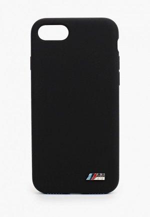Чехол для iPhone BMW 8 / SE 2020, M-collection Signature Liquid silicone Black. Цвет: черный