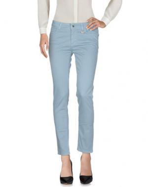 Повседневные брюки ANNA RACHELE. Цвет: небесно-голубой