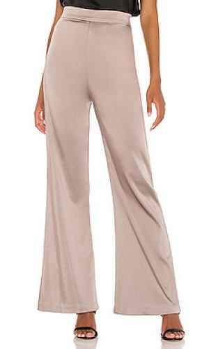 Широкие брюки cullen Amanda Uprichard. Цвет: серо-коричневый