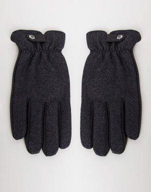Перчатки из натуральной кожи -Черный цвет Paul Costelloe