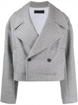 Укороченное пальто оверсайз Haider Ackermann. Цвет: серый