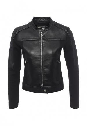 Куртка кожаная Pinko PI754EWOIE44. Цвет: черный
