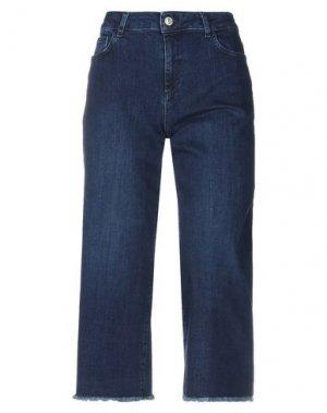 Джинсовые брюки-капри TER DE CARACTÈRE. Цвет: синий