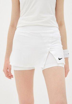 Юбка-шорты Nike W NKCT DF VCTRY SKIRT STR. Цвет: белый