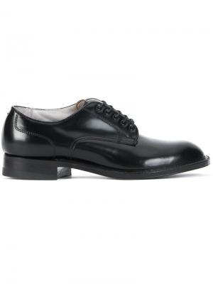 Классические туфли дерби Alden. Цвет: чёрный