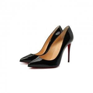 Кожаные туфли Pigalle Follies 100 Christian Louboutin. Цвет: чёрный