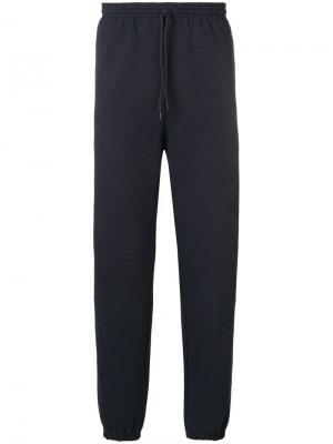 Спортивные брюки с принтом логотипа A.P.C.. Цвет: синий