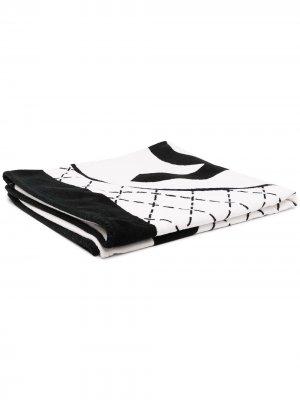 Пляжное полотенце с логотипом Chanel Pre-Owned. Цвет: белый