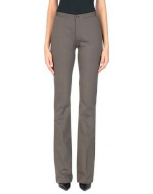 Повседневные брюки JO NO FUI. Цвет: темно-зеленый