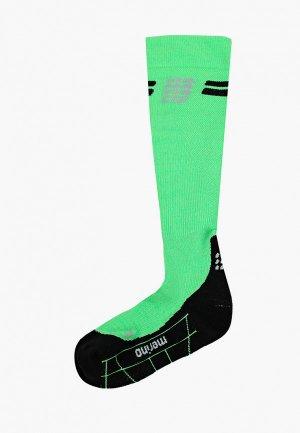 Компрессионные гольфы CEP Merino Wool Compression Knee Socks C22. Цвет: зеленый