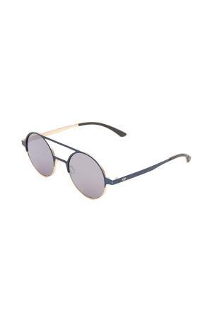 Очки солнцезащитные с линзами adidas. Цвет: 028 120 синий, золотистый