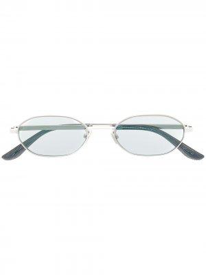 Солнцезащитные очки в овальной оправе Jimmy Choo Eyewear. Цвет: серебристый