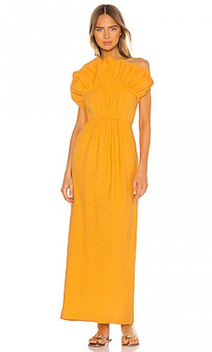 Макси платье clareta Mara Hoffman. Цвет: желтый