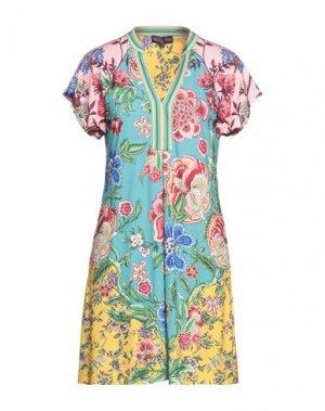 Короткое платье HALE BOB. Цвет: бирюзовый