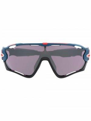 Солнцезащитные очки Jawbreaker Oakley. Цвет: синий