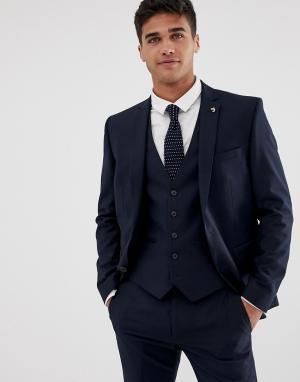 Темно-синий приталенный пиджак Farah Henderson Smart