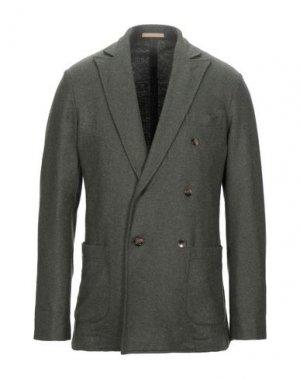 Пиджак CRUNA. Цвет: зеленый-милитари