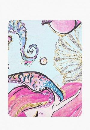 Постельное белье 1,5-спальное Juno КПБ 1.5 бязь (70х70) рис. 16417-1/16418-1 Mermaids. Цвет: голубой