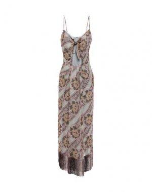 Платье длиной 3/4 ANNA SUI. Цвет: пастельно-розовый