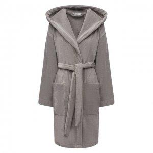 Хлопковый халат Louis Feraud. Цвет: серый