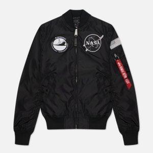 Женская куртка бомбер MA-1 TT NASA Reversible Alpha Industries. Цвет: чёрный