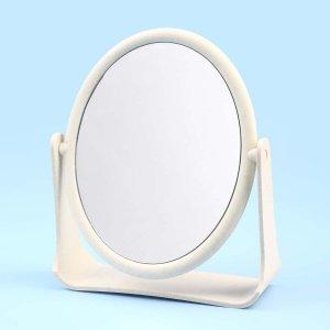 Настольное зеркало для макияжа SHEIN. Цвет: бежевые
