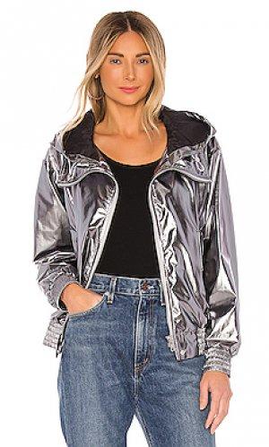 Куртка carolee Soia & Kyo. Цвет: металлический серебряный