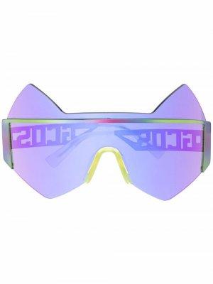 Солнцезащитные очки в оправе кошачий глаз Gcds. Цвет: фиолетовый