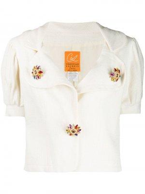 Блузка 1990-х годов с пышными рукавами Christian Lacroix Pre-Owned. Цвет: белый