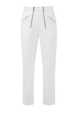 Укороченные брюки Skin Free с двойной молнией STELLA McCARTNEY. Цвет: белый