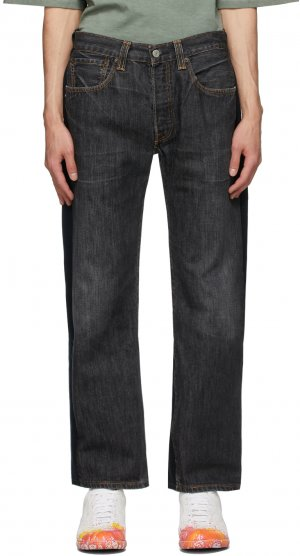 Two-Pack Black Nº69 Lost In Contemplation Variation Pleats Front Jeans Bless. Цвет: black/black