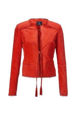 Куртка кожаная Madeleine. Цвет: papaya