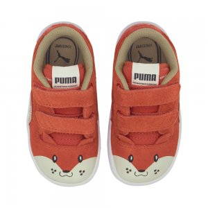 Детские кеды Ralph Sampson Animals V Inf PUMA. Цвет: красный
