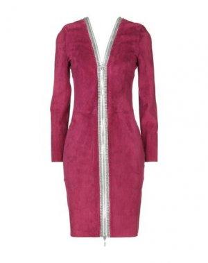 Короткое платье JITROIS. Цвет: красно-коричневый