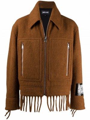 Пиджак с бахромой Just Cavalli. Цвет: коричневый