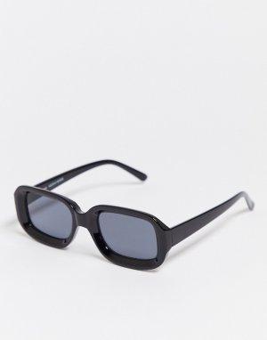 Черные солнцезащитные очки -Черный Bershka