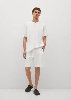 Пижамные брюки из хлопка - Adriatic Mango. Цвет: грязно-белый