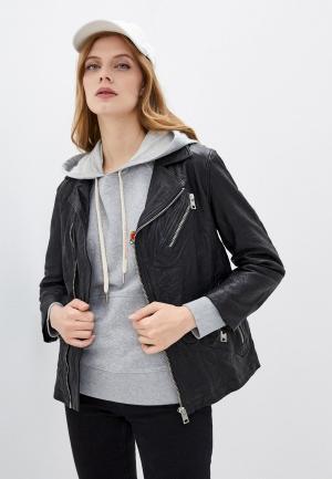 Куртка кожаная Zadig & Voltaire LASKI CUIR FRO. Цвет: черный