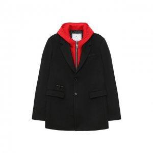Пальто Philipp Plein. Цвет: чёрный