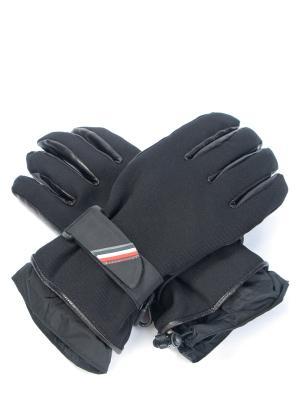Комбинированные перчатки Moncler. Цвет: черный