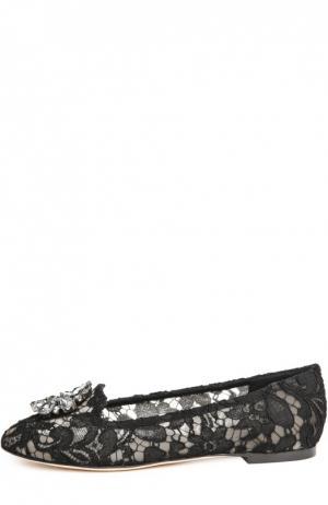 Текстильные слиперы Rainbow Lace Dolce & Gabbana. Цвет: чёрный