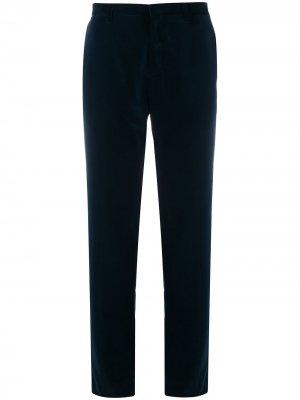 Бархатные брюки чинос Paul Smith. Цвет: синий