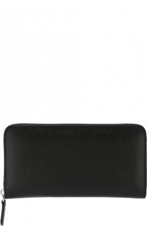 Кожаное портмоне Canali. Цвет: чёрный