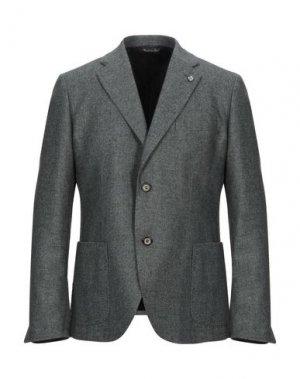 Пиджак ALESSANDRO GILLES. Цвет: зеленый-милитари