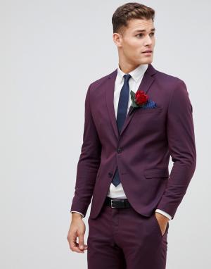 Пиджак скинни Damson-Красный Selected Homme