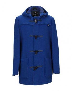 Пальто GLOVERALL. Цвет: ярко-синий