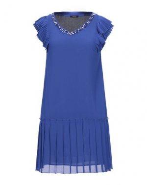 Короткое платье FRACOMINA. Цвет: ярко-синий