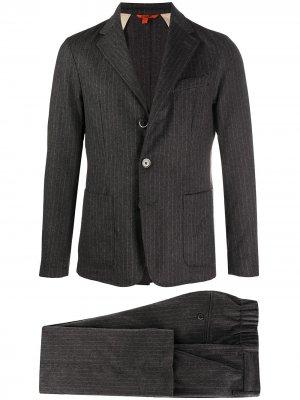 Полосатый костюм с однобортным пиджаком Barena. Цвет: серый